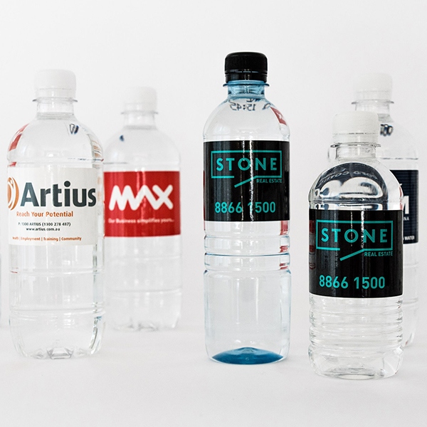 Different sized water bottles